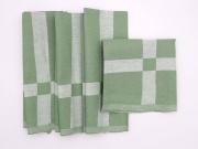 ALCESTE FF0731 Tovaglioli in Cotone Confezione da 12 colore Verde