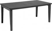 ALLIBERT 206978 Tavolo da giardino per esterno in resina 165 x 94 cm Antricite