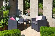 ALLIBERT 213783 Salotto giardino Salottino da esterno eff Rattan  Allegro Balcony