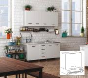 AZUR LINE BFC80KIT Pensile Cucina Bianco 1 Anta Sopracappa 60x30x49h
