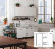 AZUR LINE BFC80KIT Pensile Cucina Scolapiatti Mobile 2 Ante 80x30x72h cm Bianco
