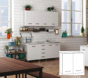 AZUR LINE BFP80KIT Pensile Cucina Bianco 2 Ante 80x30x72h cm