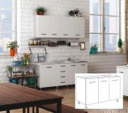 AZUR LINE BFS120KIT Mobile Lavello Cucina Sottolavello 120x50x85h cm Bianco