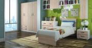 AZUR LINE LA80OL Struttura letto singolo in legno 85x200x98h cm Olmo