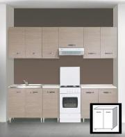AZUR LINE LGB80KIT Mobile base cucina 80x50x85 h cm Larice