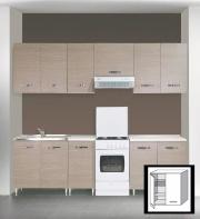 AZUR LINE LGC80KIT Pensile Cucina Scolapiatti Mobile 2 Ante 80x30x72h cm Larice