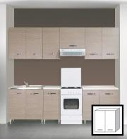 AZUR LINE LGP80KIT Pensile Cucina 2 Ante 80x30x72h cm Larice Grigio
