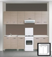 AZUR LINE LGST80KIT Mobile Lavello Cucina Sottolavello 80x50x85h cm Larice