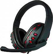 ADJ Cuffie Gaming con Cavo e Microfono con Luci LED Rosso 780-00040 Gaming Star