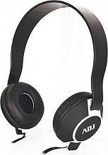 ADJ 780-00045 Cuffie stereo Mp3 Cuffie On Ear con adattatore per PC Nero