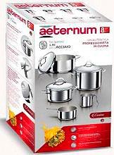 Aeternum Y0DVSET008 Set pentole Batteria Acciaio Inox  8 pezzi Divina