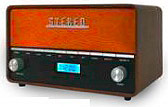 Akai R200 Radio digitale FM Bluetooth Aux Altoparlanti 2x4 Watt -  Vintage