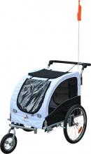 AllMyPets 56631D50 Carrellino Rimorchio per Cani da Bicicletta Bianco e Nero