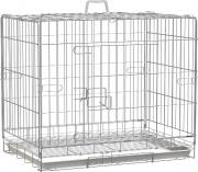 AllMyPets D0D053 Gabbia per Cani Pieghevole in Acciaio Porta con Blocco Kennel