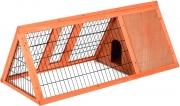 AllMyPets D51015 Gabbia per Conigli in Legno di Abete 118x50x45cm