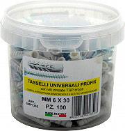 Allfix PROFIX Tasselli ø 6 mm L. 30 mm con Vite TSP Confezione 100+100 pz