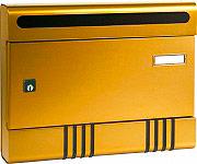 ALUBOX 04SIRBR Cassetta Postale Alluminio Riviste Serratura 36x70x290h mm Bronzo