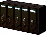 NBrand Cubo Cassetta Postale Condominio a 5 Posti con Chiave colore Ghisa - C5