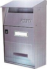 NBrand FT Cassetta Postale in Acciao Inox dimensioni 22x11x32 colore Inox