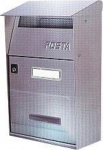 NBrand FT Cassetta Postale in Acciao Inox dimensioni 22x11x32 colore Grigio Ghisa - V