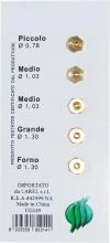Amaflex Z10156 Set 5 Ugelli Gas Metano Per Cucina Confezioni 5