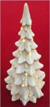 Amicasa 2 Albero di Natale con led ceramica 56 cm Interno Art. 018