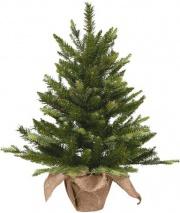 Amicasa 8401 Alberi di Natale Pinetto con base iuta Cm 90 Pe Pvc 00