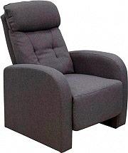 Amicasa H5610C_GRIGIO Poltrona relax reclinabile manuale Tessuto Grigio H5610C Sonia