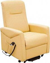 Amicasa HS8076C Poltrona reclinabile elettrica alzapersona Relax Beige  Giada