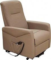 Amicasa Poltrona reclinabile elettrica alzapersona Relax Grigio H-5535C Erica