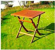 Amicasa Kres Tavolo da Giardino Pieghevole in legno Tavolino Quadrato 70x70