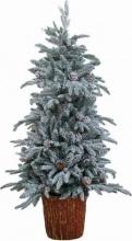 Amicasa Pino con tronco Albero di Natale Pino 150 cm Innevato Ctronco