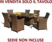 Amicasa Toscana Tavolo da giardino 200x100 cm  - OUTLET