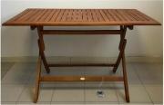 Amicasa Vigo Tavolo da Giardino Pieghevole in legno Rettangolare 120x70x75h cm