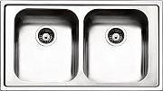 Apell ML862IBC Lavello Cucina Incasso 2 Vasche 86 cm Acciaio Melodia ML861IRBC