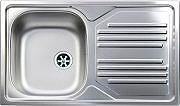 Apell TI861MILPC Lavello Cucina Incasso 1 Vasca Gocciolatoio Sx 86 cm Acciaio