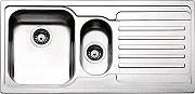 Apell VE1002IRAC Lavello Cucina Incasso 1 Vasca e 12 Gocciolatoio 100 cm Inox VE1002ILAC