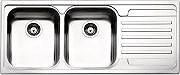 Apell VE1162IRAC Lavello Cucina Incasso 2 Vasche Gocciolatoio 116cm Acciaio Inox