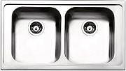 Apell VE862IAC Lavello Cucina Incasso 2 Vasche 86 cm Acciaio Venezia
