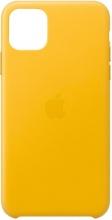 Apple MX0A2ZMA Custodia Cover in Pelle per iPhone 11 Pro Max Giallo