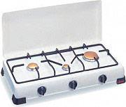 Ardes Fornello a gas METANO 3 Fuochi con Coperchio Colore Bianco - 9S03PM