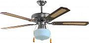 Ardes A130D Ventilatore Soffitto Luce 4 Pale Lampadario Legno Noce