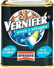 Arexons Vernice Antiruggine Ferro Smalto Gel 750 ml Grigio Scuro Vernifer 4876