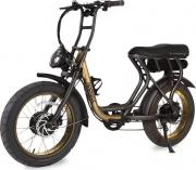 Argento AB-MM-Y20 Bicicletta elettrica con pedalata assistita Pieghevole Giallo MadMax
