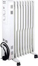 Argo SECRET 11 Radiatore ad Olio Termosifone Elettrico 11 Elementi Stufa 2500W