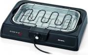 Ariete 00C072300AR0 Barbecue Elettrico da Tavolo BBQ 2 kW Vassoio Raccogligrasso