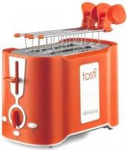Ariete 124 Tostapane per Toast 2 Fette 500W 6 Livelli cottura Arancio Tostì