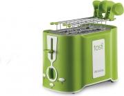 Ariete 124 Tostapane per Toast 2 Fette 500W 6 Livelli cottura Verde Tostì