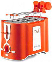Ariete Tostapane per Toast 2 Fette 500W 6 Livelli cottura Arancio Tostì - 124