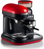 Ariete 1318 Macchina Caffe Espresso Manuale Macinato in Polvere 2 Tazze Rosso